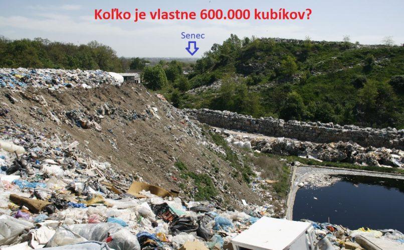 10 rokov v Senci = 600.000m3 odpadu. Čo bude o ďalších 10 rokov???